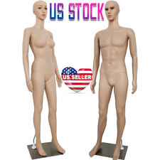 Female/Male Mannequin Torso Dress Form Clothing Mannequin Full Body 73 Inches