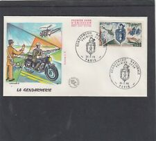 France  1970 Police gendarmerie motorcycle helicopter boatFirst Day Cover FDC