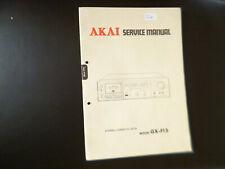 Original Service Manual Schaltplan Akai GX-F35
