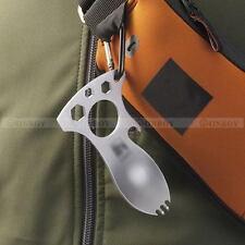EDC Multifunction Bottle Opener Spork Spoon Screwdriver Camping Survival Kit