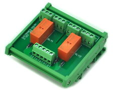 DIN Rail Mount Passive Bistable/Latching 2 DPDT 8A Power Relay Module, 12V Ver.