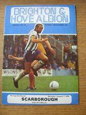 07/01/1978 Brighton And Hove Albion v Scarborough [FA Cup] (Item has no apparent