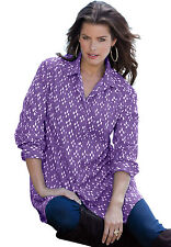 Kate Long Sleeve Big shirt in true purple print - Women's - Size 12W NWT