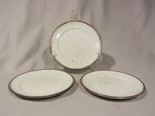 Johnson Brothers England PATIO Brown Ironstone Bread and Butter Plates -Set of 3