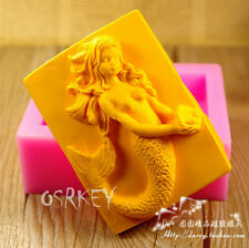 Mermaid  S282 Silicone Soap mold Craft Molds DIY Handmade soap mould
