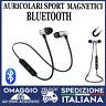 Auricolari Bluetooth Magnetici Cuffie Sport Wireless con microfono silver