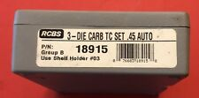 RCBS 45 ACP Carbide 3 Die Set - Reloading