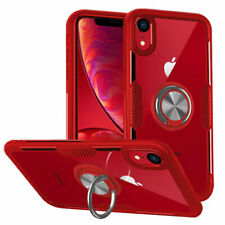 Phone Case With Magnetic 360 Ring Holder Hard Cover for iPhone XS XR 8 7 6 Plus