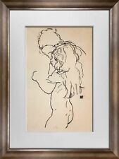 "Egon SCHIELE Lithograph SIGNED Limited Ed: ""Mother and Child"" 1918 +FRAME"