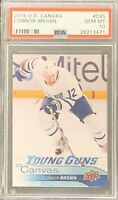 2016 2017 Connor Brown PSA 10 CANVAS YOUNG GUNS RC ROOKIE UPPER DECK Maple Leafs