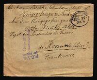 Germany 1916 POW Cover to France / KIEL CDS - Z14409
