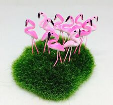 50 Tiny Pink colors Flamingo Miniature Dollhouse Fairy Garden Accessories