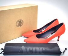 "Acne Studios Red Leather ""Millie"" Pumps EU 39 US 9  Heels"