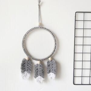 Dreamcatcher Feather Tassels Macrame Cotton Wall Hanging Home Pram Nursery Decor