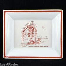 "HAVILAND Vide-poche ""CATHEDRALE D'EVRY"" Mario Botta Porcelaine LIMOGES tray 20th"