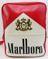 "Vintage Marlboro Red Cigarettes Vinyl Tote Bag Flight Bag 13.5"" x 10.5"" x 4.5"""
