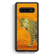 Leopard Samsung Galaxy S10+ Plus Silikon Hülle Motiv Design Tiere Schön Cover...