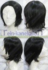 Harry Potter Severus Snape Professor Short Black Cosplay Party Wig Hair