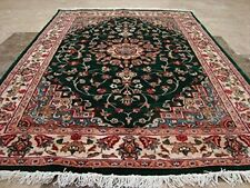 Awesome Love Green Beauty Floral Rug Hand Knotted Wool Silk Carpet (6 x 4)'