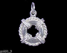 Lifebuoy Life Preserver charm Sterling silver 925 charmmakers 3D