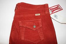 NWT LEVI STRAUSS SIGNATURE Size 12 Women's Flat Front Rust STRETCH Corduroy Pant