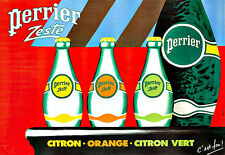 Art Ad Perrier  Zeste Citron Orange Drink  Chic Deco   Poster Print
