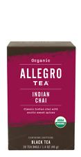 Allegro Organic Indian Chai Black Tea 20 Tea Bags 1.4 oz