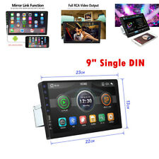 """9"""" Single DIN Touchable Car Stereo Radio MP5 Player Unit Bluetooth USB/TF/AUX IN"""