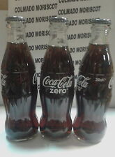 COCA COLA ZERO BOTELLA LLENA SERIGRAFIA CRISTAL, FULL GLASS BOTTLE 25cl NO STICK