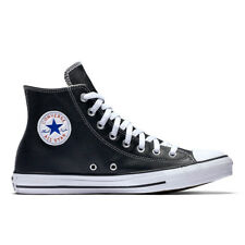 """CONVERSE Scarpe UOMO DONNA Shoes """"All Star Hi Leather"""" Originali NUOVE New PELLE"""