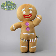 1x Shrek Adventure Gingerbread Man Gingy Plush Toy Soft Stuffed Animal Doll 19''