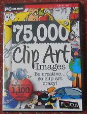 Sealed 75,000 Clip art Images 2 x CD-ROMs, Computer DTP Graphics Images