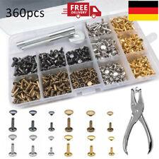 360 Stück Hohlnieten 6/8/12mm Set-Angebot Leder Nieten Ziernieten Rivet NEU