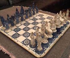 Russian Collectible Porcelain Chess Set. Kuzbas. 1970-s