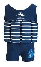 Konfidence Badeanzug Float Suit mit integriertem Auftrieb blau/weiß gestreift