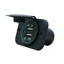 Wasserdichte Dual USB Ladegerät Steckdose 5V 3.1A Panel Stecker Mount Motorrad K