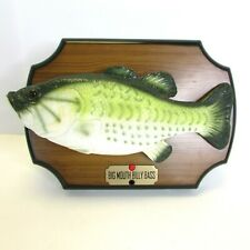 Big Mouth Billy Bass Gemmy Singing Fish Don't Worry To The River Works! Desk Top