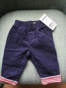 Boys Cord Pull-Up Trousers 3-6 Months - JoJo Maman Bebe - BNWT