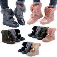 FiveSix Damen Schlupf Stiefel Boots Kunstfell Gefüttert Neu 1611 Schuhe Gr 36-41