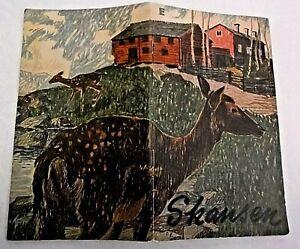 1954 Skansen Short Guide for Visitors Erik Andren Buildings & Animals SWEDEN