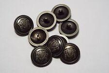8pc 20mm Pewter German Russian Inspired Metal Blazer Coat Cardigan Button 2855