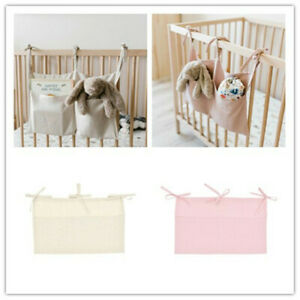 Baby Crib Hanging Storage Bags Baby Cot Beds Organizer Toys Diaper Linen Pockets