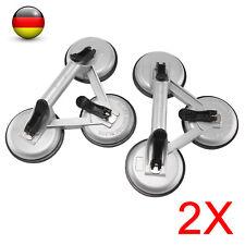 2x Aluminium Saugheber Glassauger Vakuumheber 120kg Glasheber mit 3 Saugnäpfen