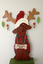 "HOLIDAY CHRISTMASPRIMITIVE WOOD CRAFT PATTERN ""LITTLE YELPER"" -34"" TALL"
