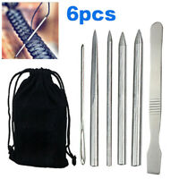 6pcs Paracord Bracelet Stainless Steel Fid Lacing Stitching Needles Tool Set