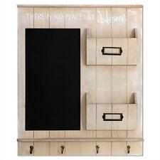 Wandorganizer Memoboard Holz Schlüsselbrett mit Kreidetafel 61x50x6cm