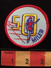 Fifty Mile Hiking Patch 50 MILER - Female Hiker (I Think~it's Hard To Tell) 65O