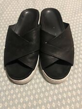 Vionic Womens Sandals Size 6 Black With White Sole