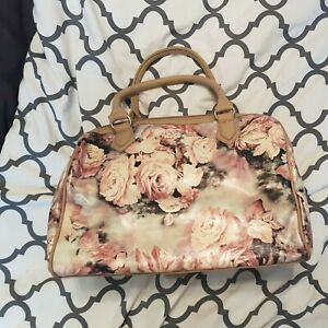 HAND BAG  FLORAL  PATTERN USED ONCE