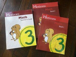 Horizons Math Grade 3 BUNDLE Teachers Guide NEW, Student Workbook 1 & 2